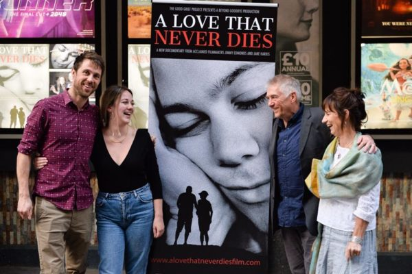 Josh's family at the Premiere of A LOVE THAT NEVER DIES at The Prince Charles Theatre, Leicester Square May 2018